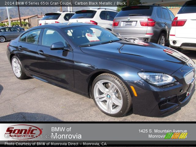 2014 BMW 6 Series 650i Gran Coupe In Carbon Black Metallic