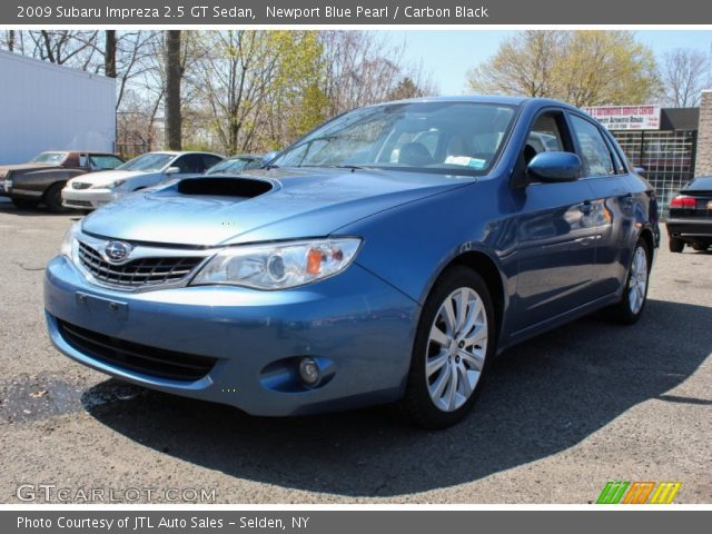 newport blue pearl 2009 subaru impreza 2 5 gt sedan. Black Bedroom Furniture Sets. Home Design Ideas