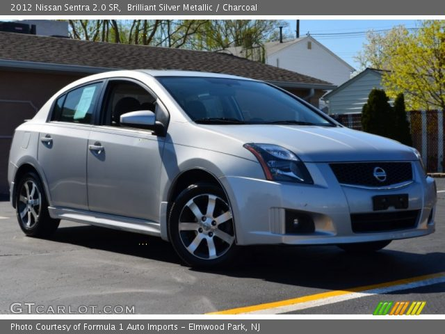 brilliant silver metallic 2012 nissan sentra 2 0 sr charcoal interior. Black Bedroom Furniture Sets. Home Design Ideas
