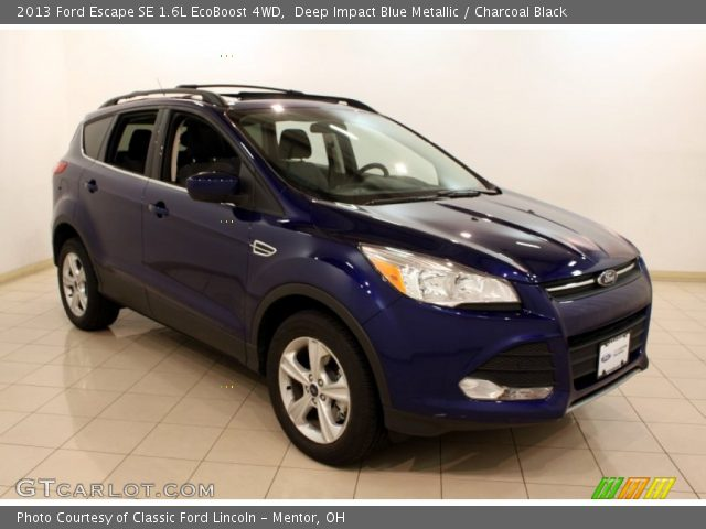 deep impact blue metallic 2013 ford escape se 1 6l ecoboost 4wd charcoal black interior. Black Bedroom Furniture Sets. Home Design Ideas