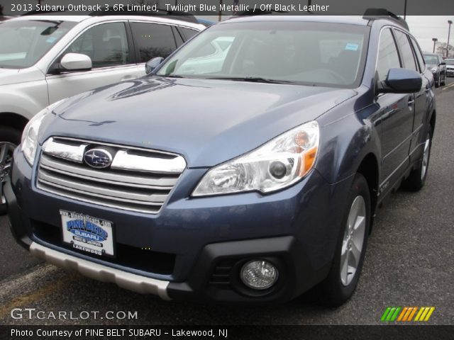 twilight blue metallic 2013 subaru outback 3 6r limited off black leather interior. Black Bedroom Furniture Sets. Home Design Ideas
