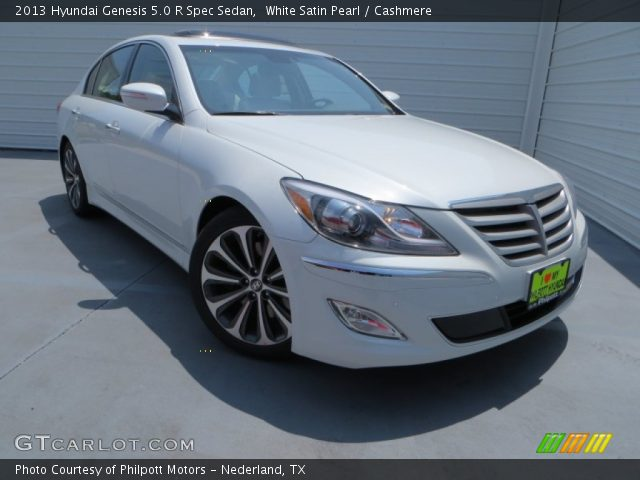 white satin pearl 2013 hyundai genesis 5 0 r spec sedan. Black Bedroom Furniture Sets. Home Design Ideas