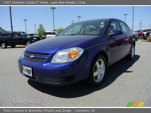 laser blue metallic 2007 chevrolet cobalt lt sedan. Black Bedroom Furniture Sets. Home Design Ideas