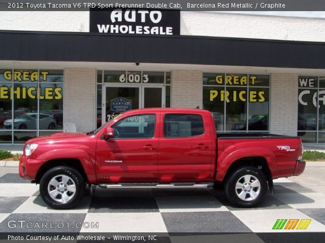barcelona red metallic 2012 toyota tacoma v6 trd sport prerunner double cab graphite. Black Bedroom Furniture Sets. Home Design Ideas