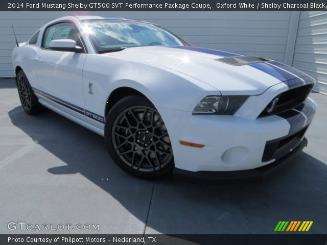 oxford white 2014 ford mustang shelby gt500 svt performance package coupe shelby charcoal. Black Bedroom Furniture Sets. Home Design Ideas