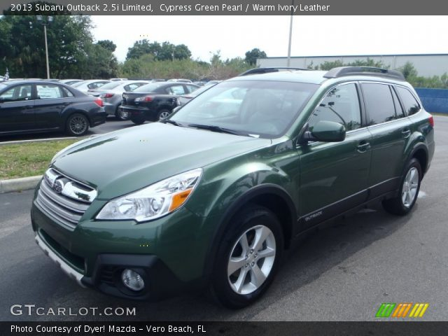 cypress green pearl 2013 subaru outback limited warm ivory leather interior gtcarlot. Black Bedroom Furniture Sets. Home Design Ideas