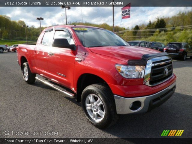 radiant red 2012 toyota tundra trd double cab 4x4 graphite interior vehicle. Black Bedroom Furniture Sets. Home Design Ideas