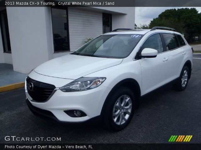 crystal white pearl mica 2013 mazda cx 9 touring sand. Black Bedroom Furniture Sets. Home Design Ideas