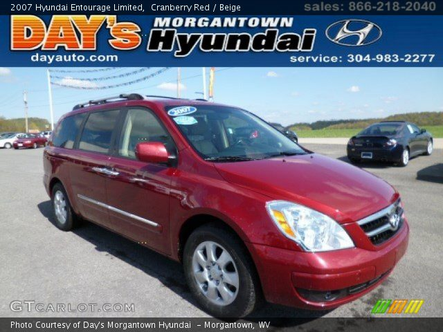 2007 Hyundai Entourage Limited in Cranberry Red