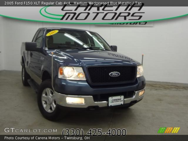 2005 Ford F150 XLT Regular Cab 4x4 in Medium Wedgewood Blue Metallic