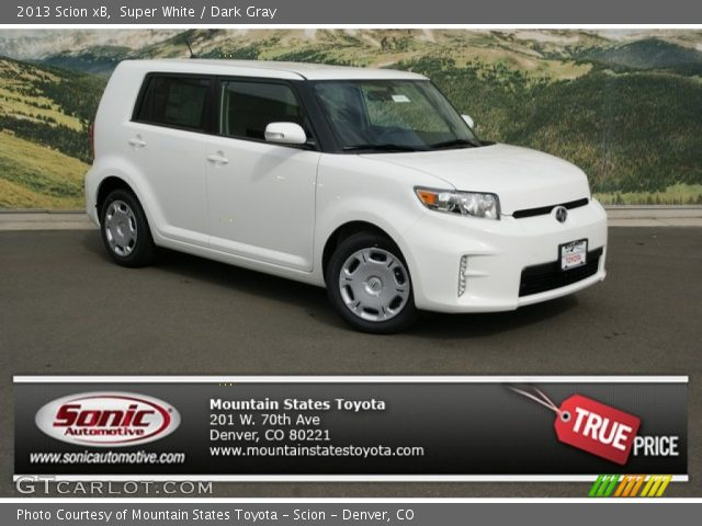 2013 Scion xB  in Super White