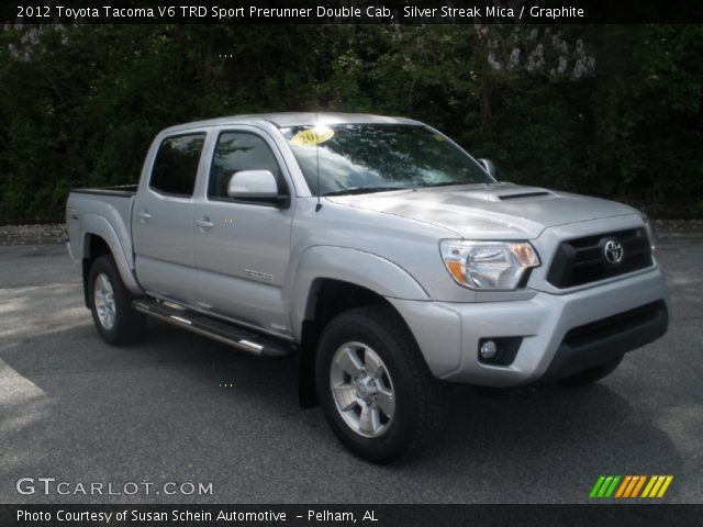 silver streak mica 2012 toyota tacoma v6 trd sport prerunner double cab graphite interior. Black Bedroom Furniture Sets. Home Design Ideas