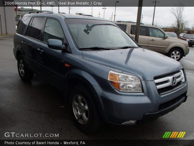 steel blue metallic 2006 honda pilot ex l 4wd gray interior vehicle archive. Black Bedroom Furniture Sets. Home Design Ideas