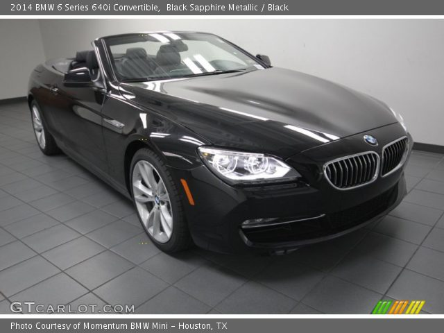 Black Sapphire Metallic BMW Series I Convertible - Bmw 640i convertible 2014