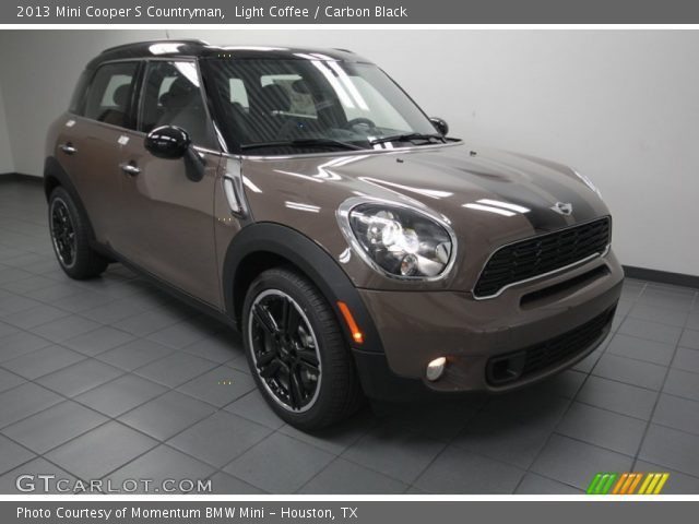 light coffee 2013 mini cooper s countryman carbon black interior vehicle. Black Bedroom Furniture Sets. Home Design Ideas