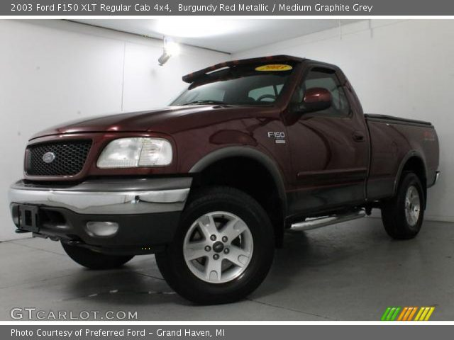 2003 Ford F150 XLT Regular Cab 4x4 in Burgundy Red Metallic