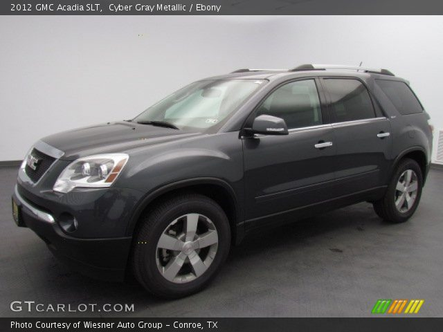 Cyber Gray Metallic 2012 Gmc Acadia Slt Ebony Interior