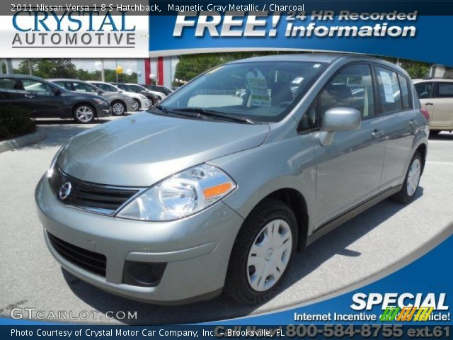 2011 Nissan Versa 1.8 S Hatchback in Magnetic Gray Metallic