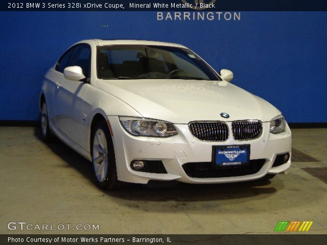 mineral white metallic 2012 bmw 3 series 328i xdrive coupe black interior. Black Bedroom Furniture Sets. Home Design Ideas