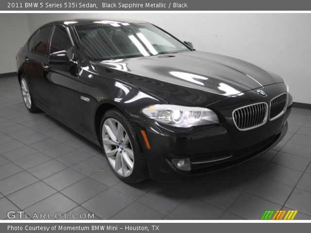 black sapphire metallic 2011 bmw 5 series 535i sedan black interior vehicle. Black Bedroom Furniture Sets. Home Design Ideas
