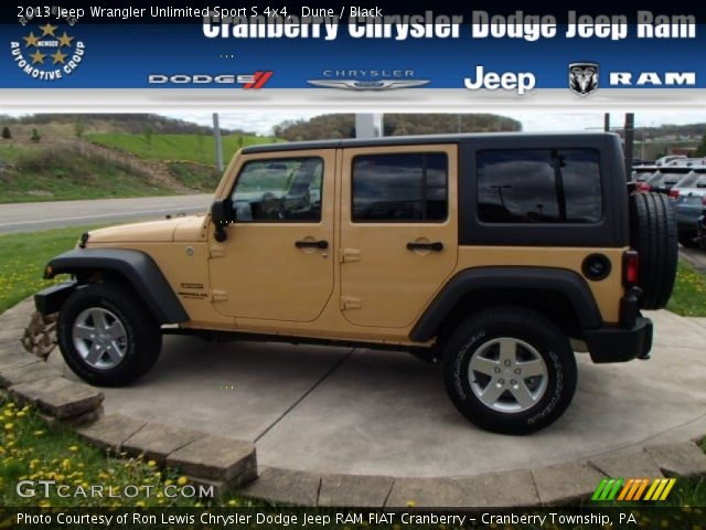 Dune 2013 Jeep Wrangler Unlimited Sport S 4x4 Black