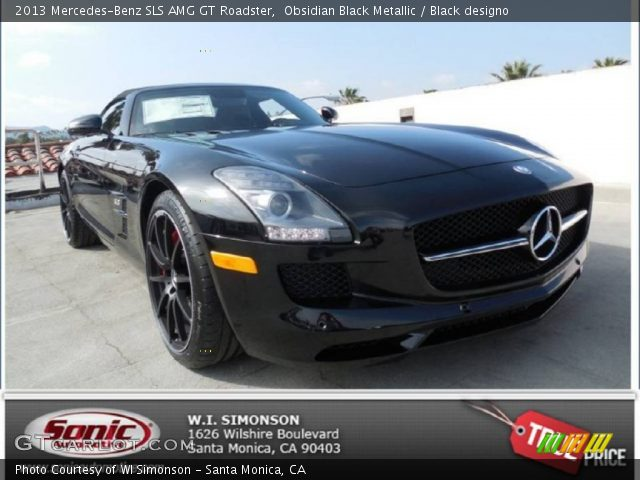 2013 Mercedes-Benz SLS AMG GT Roadster in Obsidian Black Metallic
