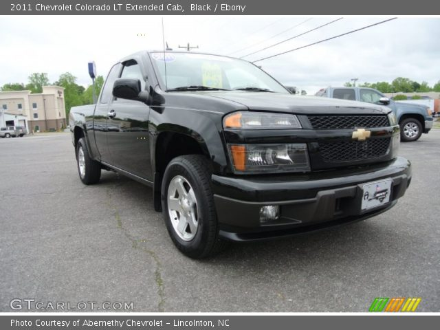 black 2011 chevrolet colorado lt extended cab ebony. Black Bedroom Furniture Sets. Home Design Ideas
