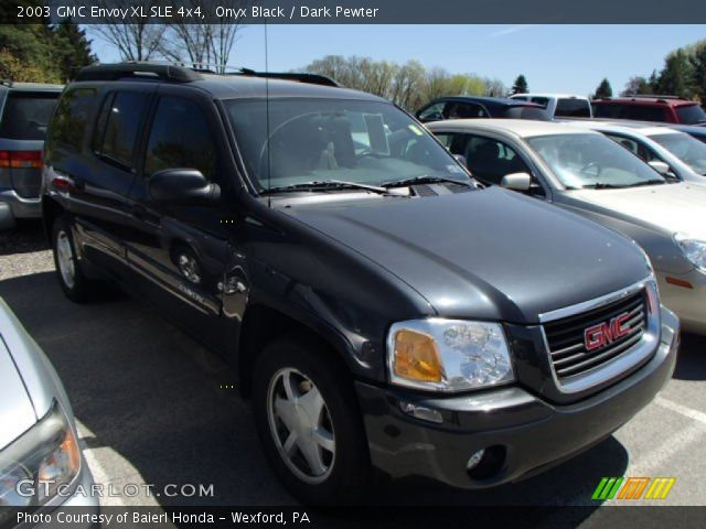 onyx black 2003 gmc envoy xl sle 4x4 dark pewter. Black Bedroom Furniture Sets. Home Design Ideas
