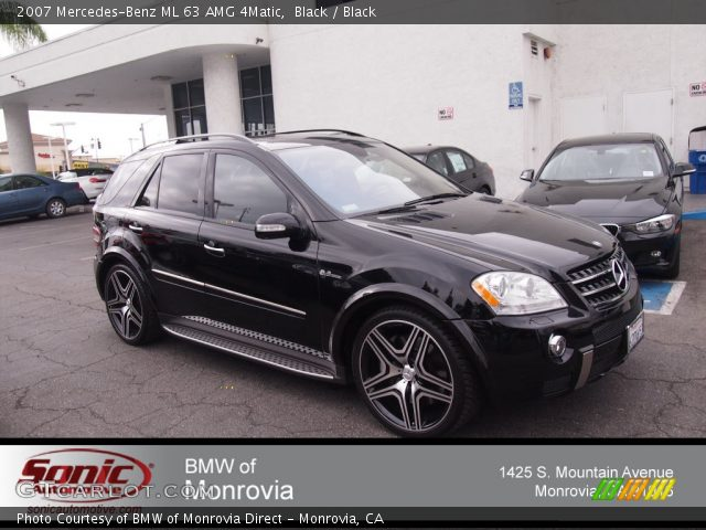 black 2007 mercedes benz ml 63 amg 4matic black interior vehicle archive. Black Bedroom Furniture Sets. Home Design Ideas