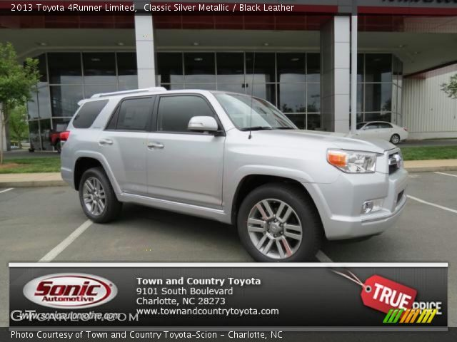 classic silver metallic 2013 toyota 4runner limited black leather interior. Black Bedroom Furniture Sets. Home Design Ideas