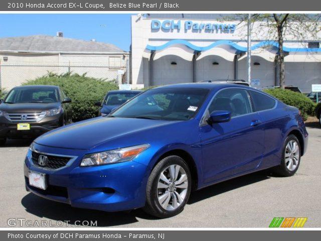 Belize blue pearl 2010 honda accord ex l coupe black - 2010 honda accord coupe interior ...