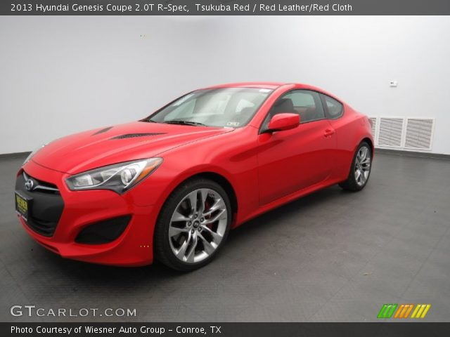 tsukuba red 2013 hyundai genesis coupe 2 0t r spec red leather red cloth interior gtcarlot. Black Bedroom Furniture Sets. Home Design Ideas