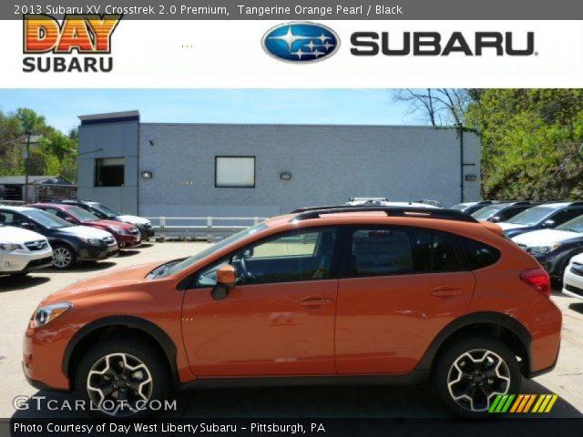 Tangerine Orange Pearl 2013 Subaru Xv Crosstrek 2 0 Premium Black Interior
