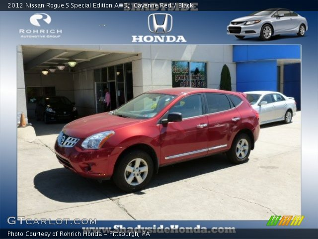 Cayenne red 2012 nissan rogue s special edition awd - 2012 nissan rogue exterior colors ...