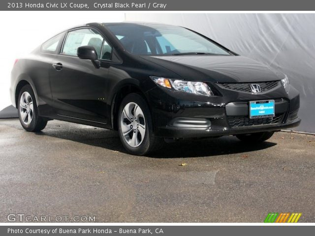 crystal black pearl 2013 honda civic lx coupe gray interior vehicle archive. Black Bedroom Furniture Sets. Home Design Ideas