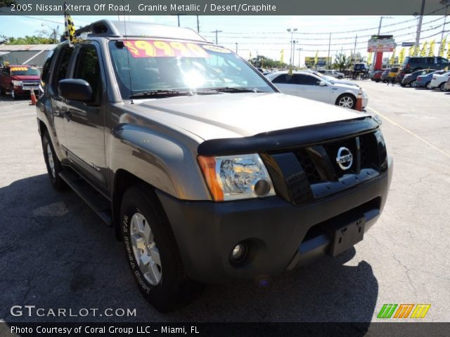 granite metallic 2005 nissan xterra off road desert. Black Bedroom Furniture Sets. Home Design Ideas