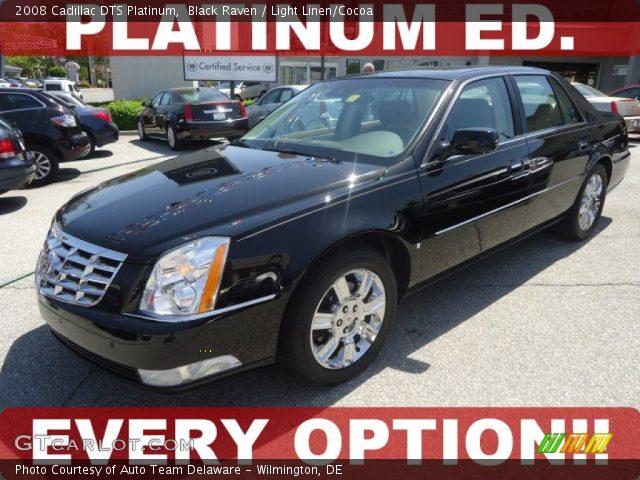 2008 Cadillac DTS Platinum in Black Raven