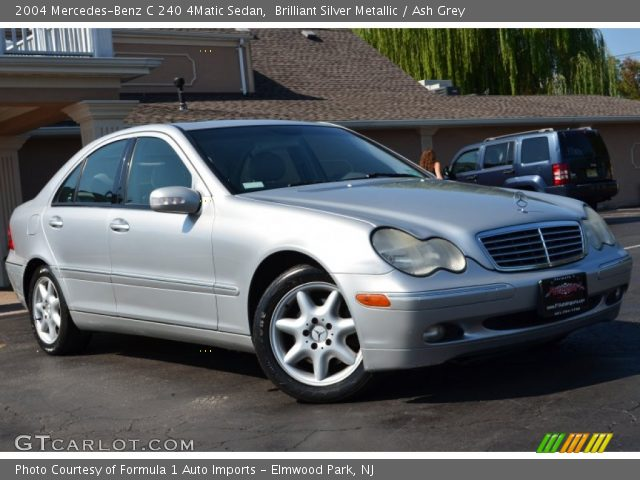 brilliant silver metallic 2004 mercedes benz c 240 4matic sedan ash grey interior gtcarlot. Black Bedroom Furniture Sets. Home Design Ideas