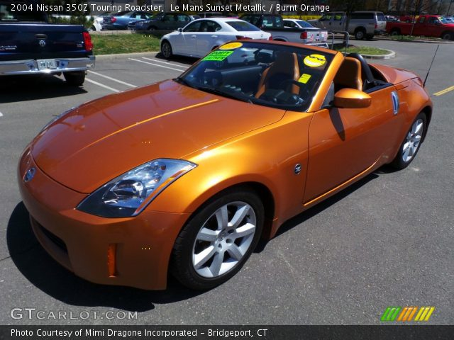 le mans sunset metallic 2004 nissan 350z touring roadster burnt orange interior gtcarlot. Black Bedroom Furniture Sets. Home Design Ideas