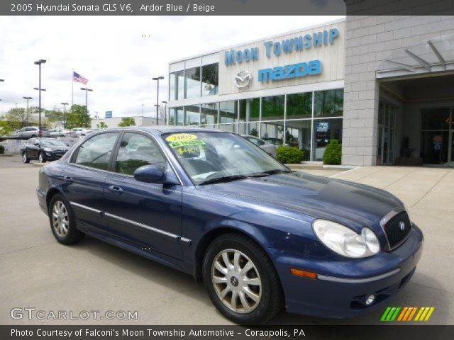 ardor blue 2005 hyundai sonata gls v6 beige interior vehicle archive 80677583. Black Bedroom Furniture Sets. Home Design Ideas