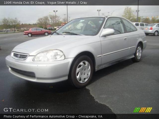 Vogue Silver Metallic 1996 Honda Civic Ex Coupe Gray Interior Vehicle