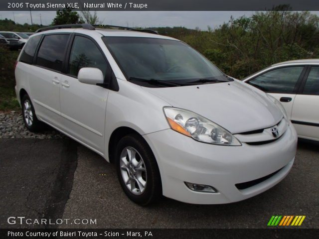 natural white 2006 toyota sienna xle taupe interior. Black Bedroom Furniture Sets. Home Design Ideas