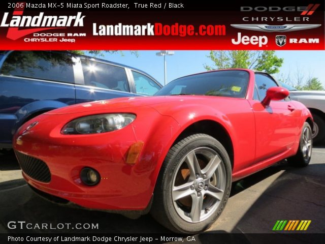 true red 2006 mazda mx 5 miata sport roadster black interior vehicle. Black Bedroom Furniture Sets. Home Design Ideas