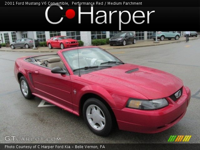 performance red 2001 ford mustang v6 convertible. Black Bedroom Furniture Sets. Home Design Ideas