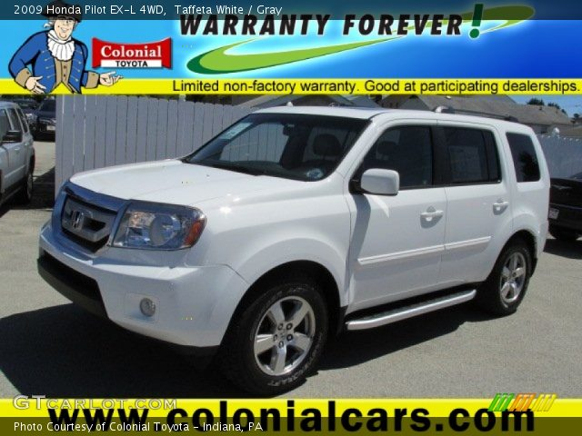 Taffeta White 2009 Honda Pilot Ex L 4wd Gray Interior Vehicle Archive 80785629