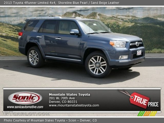 shoreline blue pearl 2013 toyota 4runner limited 4x4 sand beige leather interior gtcarlot. Black Bedroom Furniture Sets. Home Design Ideas