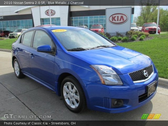 blue metallic 2010 nissan sentra 2 0 sr charcoal interior vehicle archive. Black Bedroom Furniture Sets. Home Design Ideas