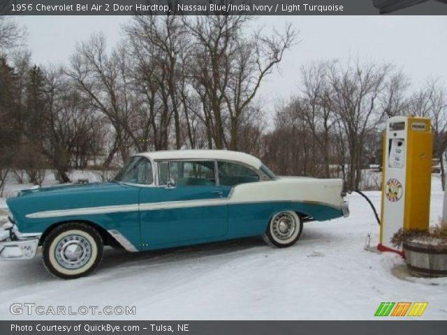 Astounding Nassau Blue India Ivory 1956 Chevrolet Bel Air 2 Door Beutiful Home Inspiration Semekurdistantinfo