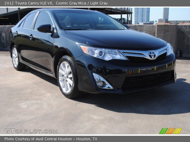 cosmic gray mica 2012 toyota camry xle v6 light gray interior vehicle. Black Bedroom Furniture Sets. Home Design Ideas