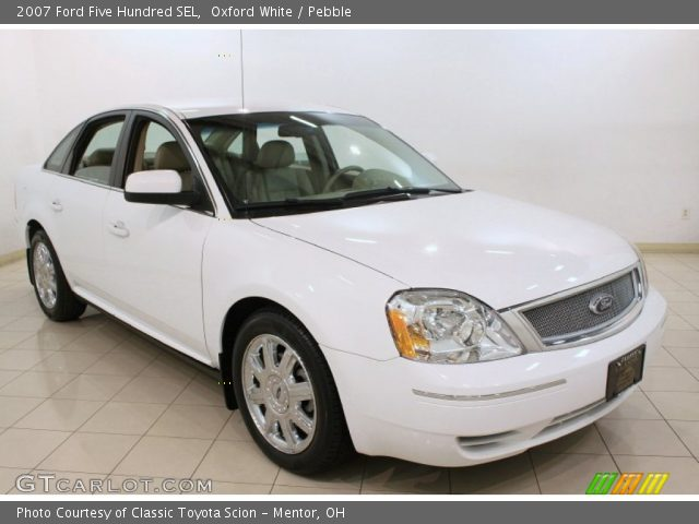 oxford white 2007 ford five hundred sel pebble interior vehicle archive. Black Bedroom Furniture Sets. Home Design Ideas